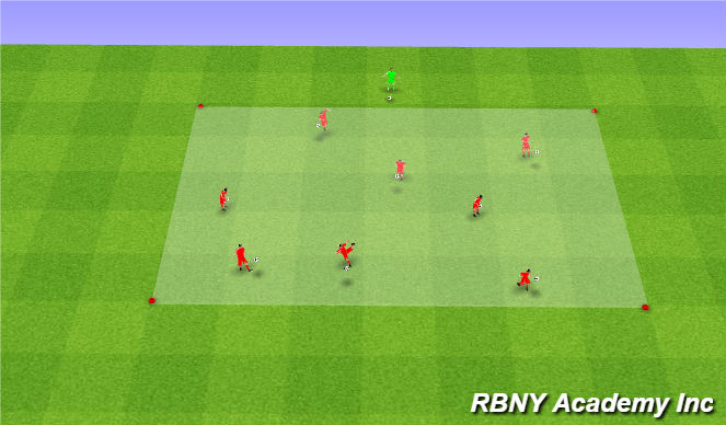 Football/Soccer Session Plan Drill (Colour): Juggling - on arrival
