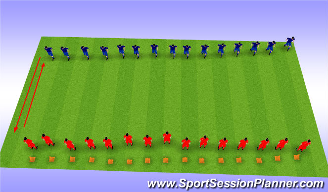 Football/Soccer Session Plan Drill (Colour): Movement Prep Warm-Up