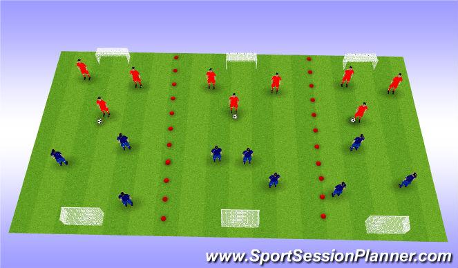 Football/Soccer Session Plan Drill (Colour): 3 v 3 Games