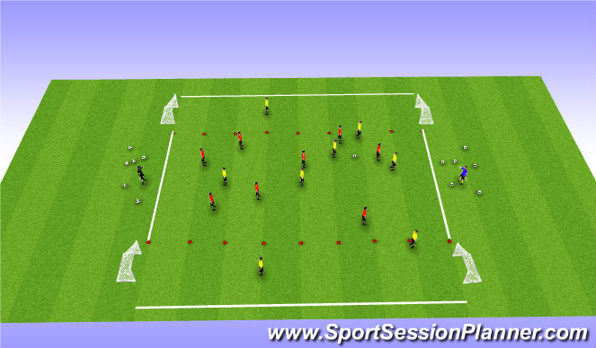 Football/Soccer Session Plan Drill (Colour): Break down defence pt2