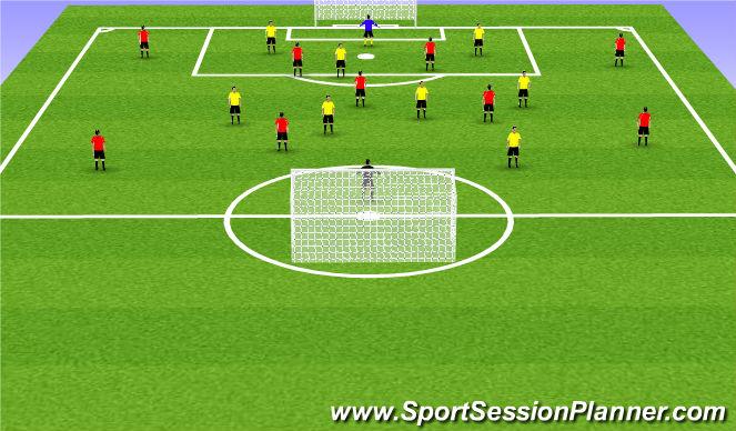 Football/Soccer Session Plan Drill (Colour): Break down def pt3