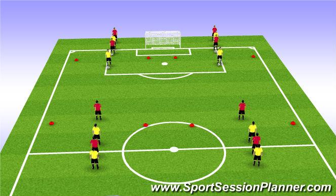 Football/Soccer Session Plan Drill (Colour): Mini-Game