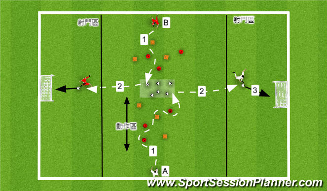Football/Soccer Session Plan Drill (Colour): Day4-training3