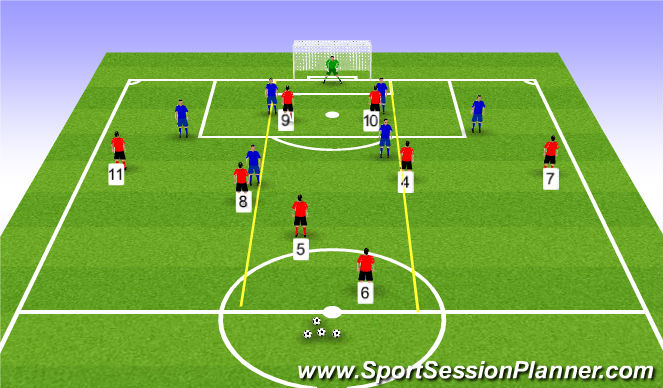 Football/Soccer Session Plan Drill (Colour): Session