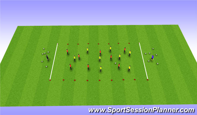 Football/Soccer Session Plan Drill (Colour): Break Down defence pt 1