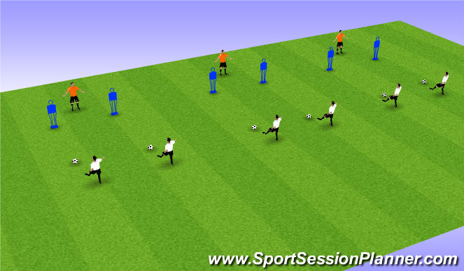 Football/Soccer Session Plan Drill (Colour): Lateral movement