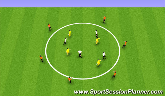 Football/Soccer Session Plan Drill (Colour): Recieve under pressure