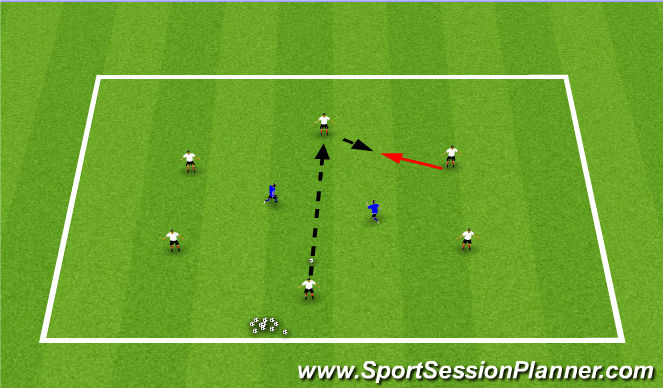 Football/Soccer Session Plan Drill (Colour): Knock Down Rondo
