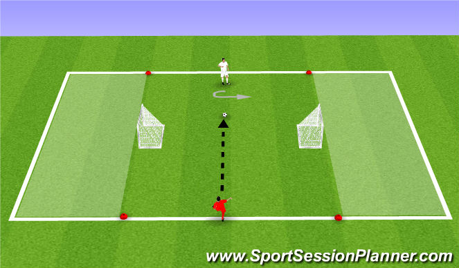 Football/Soccer Session Plan Drill (Colour): Turning Game