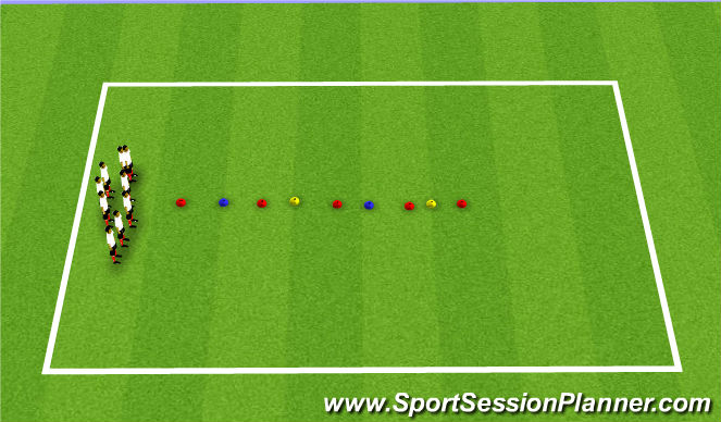 Football/Soccer Session Plan Drill (Colour): Memory I