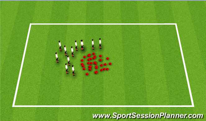 Football/Soccer Session Plan Drill (Colour): Memory II
