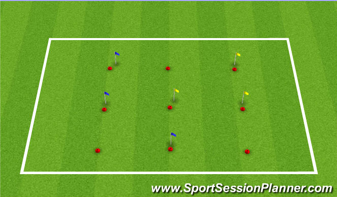 Football/Soccer Session Plan Drill (Colour): Team Building II