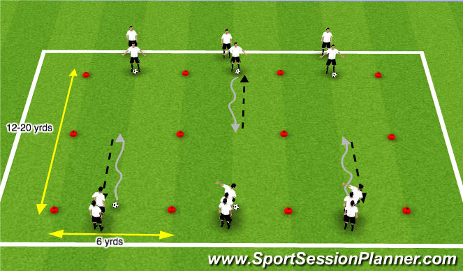 Football/Soccer Session Plan Drill (Colour): COD Skills
