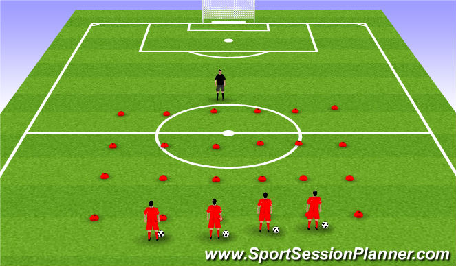 Football/Soccer Session Plan Drill (Colour): Orientation/Differentiation (COO)