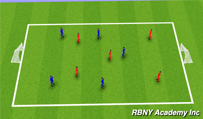 Football/Soccer Session Plan Drill (Colour): Free Play: