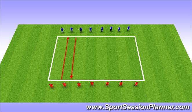 Football/Soccer Session Plan Drill (Colour): Yo Yo Test