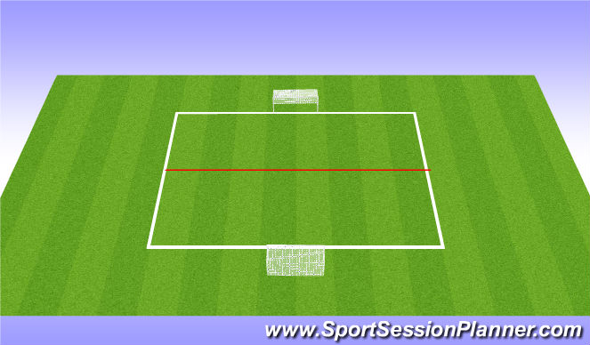 Football/Soccer Session Plan Drill (Colour): Behind the ball SSG