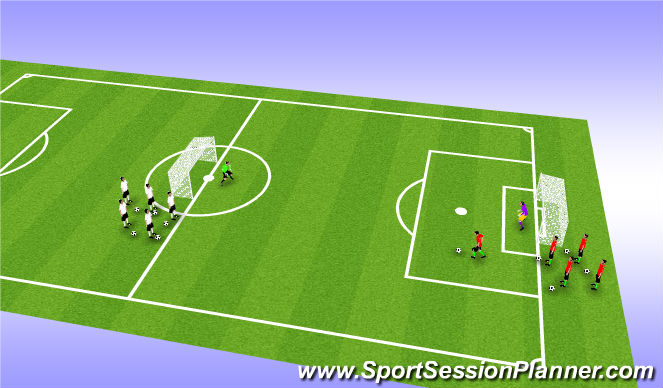 Football/Soccer Session Plan Drill (Colour): Numbers Up