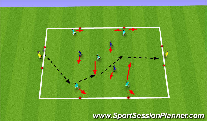 Football/Soccer Session Plan Drill (Colour): Discovery -