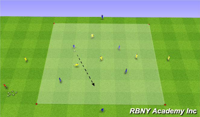 Football/Soccer Session Plan Drill (Colour): Condition - 4v4+4