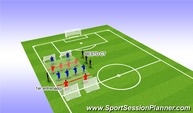 Football/Soccer Session Plan Drill (Colour): Juego pos 2