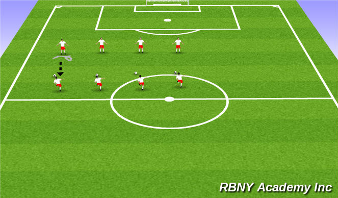 Football/Soccer Session Plan Drill (Colour): Partners Ball Mastery