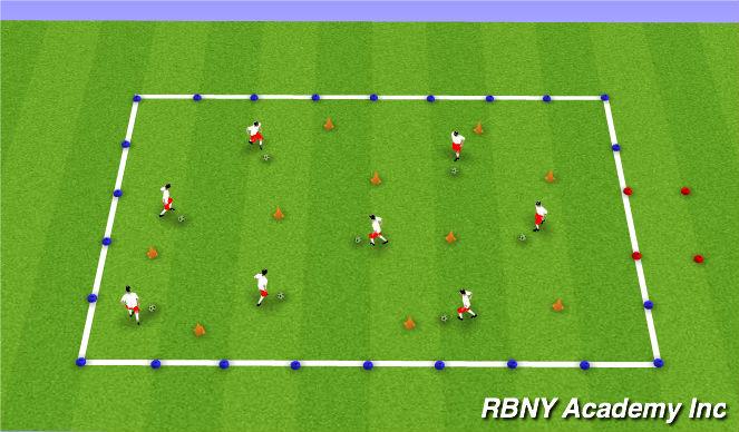 Football/Soccer Session Plan Drill (Colour): Battlestar Galactica