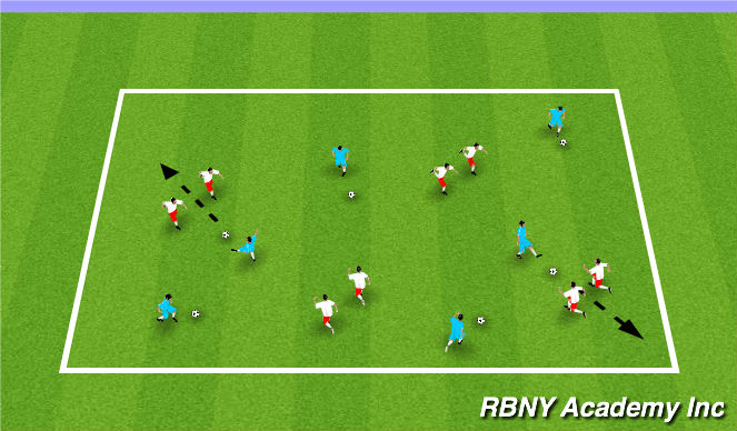Football/Soccer Session Plan Drill (Colour): Pinnie Pinball