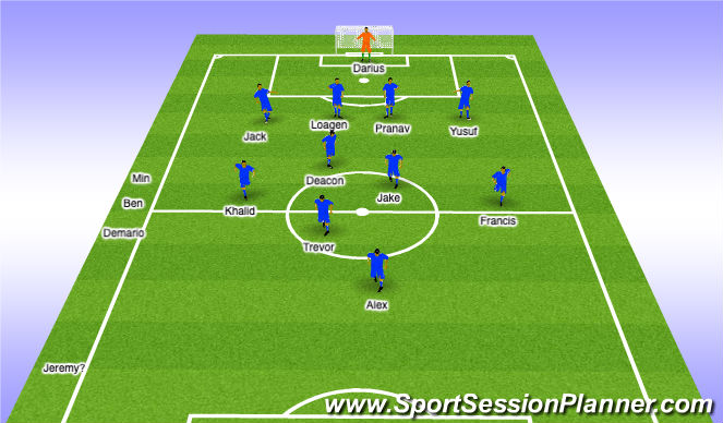 Football/Soccer Session Plan Drill (Colour): 1st Half sub - 25-28min