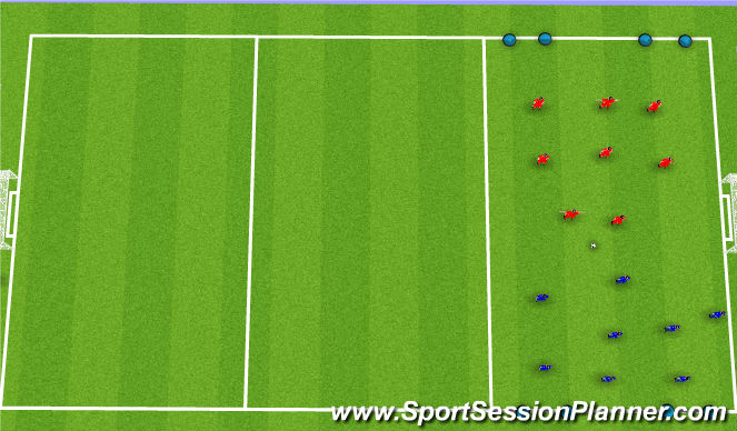 Football/Soccer Session Plan Drill (Colour): Game Phase (15 Minutes)