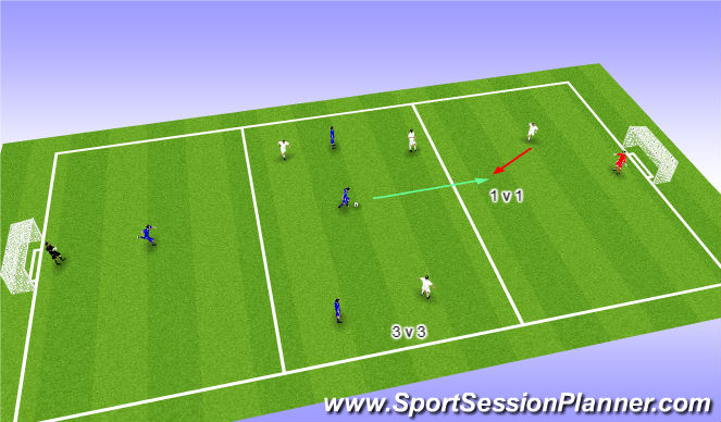 Football/Soccer Session Plan Drill (Colour): PLAY MAKER