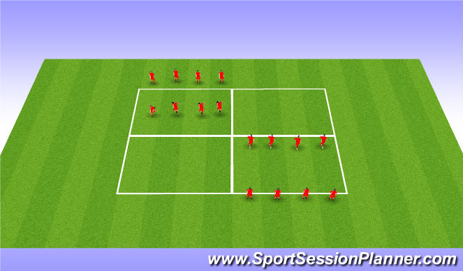 Football/Soccer Session Plan Drill (Colour): Grade 12 Warm-Up