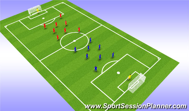 Football/Soccer Session Plan Drill (Colour): All In Game