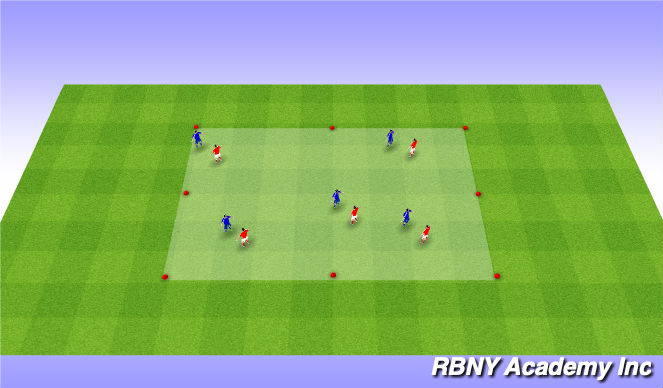 Football/Soccer Session Plan Drill (Colour): Knee tag warm up