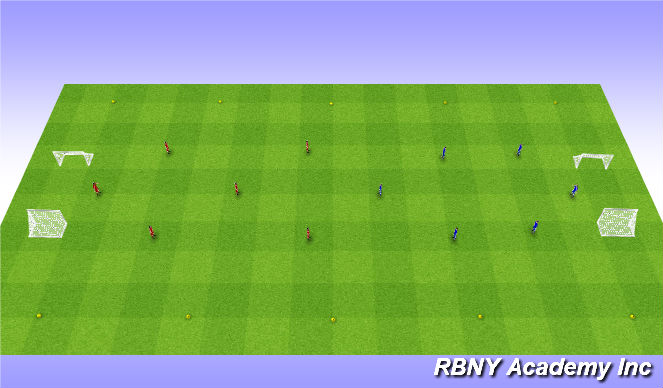 Football/Soccer Session Plan Drill (Colour): Conditioned Game - 25 or Score