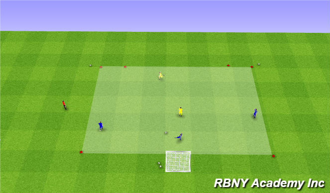 Football/Soccer Session Plan Drill (Colour): Main - 3v2s