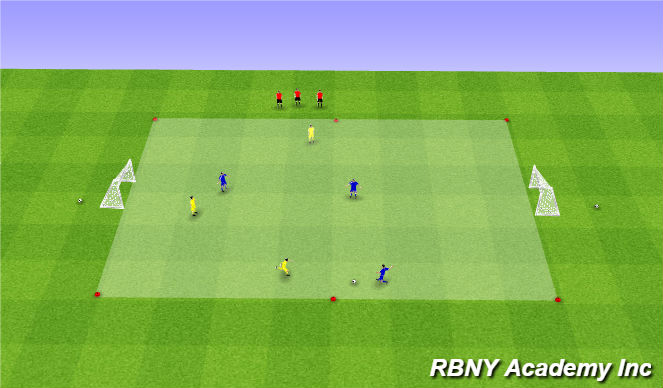 Football/Soccer Session Plan Drill (Colour): Game - 3v3s