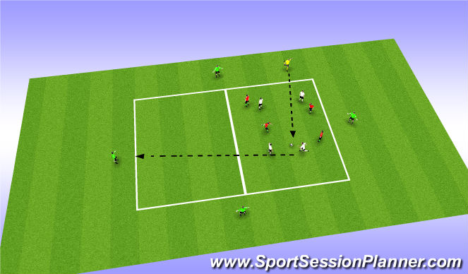 Football/Soccer Session Plan Drill (Colour): Slice of the Game - SSG - Press the  Ball Rondo