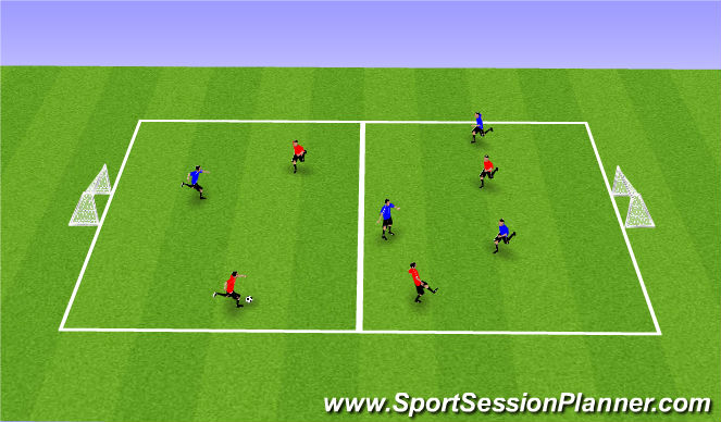 Football/Soccer Session Plan Drill (Colour): SSG with Touch Restriction