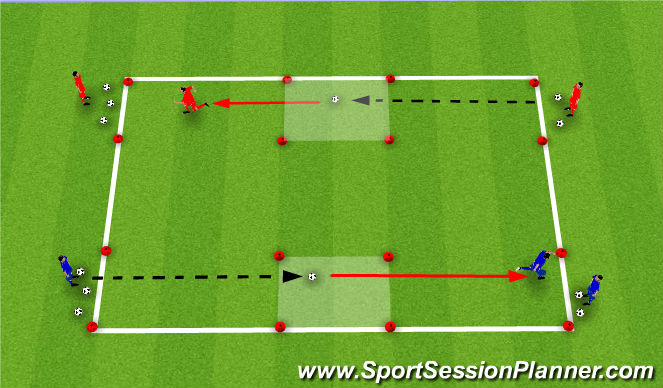 Football/Soccer Session Plan Drill (Colour): Fill The Bucket / Empty The Bucket