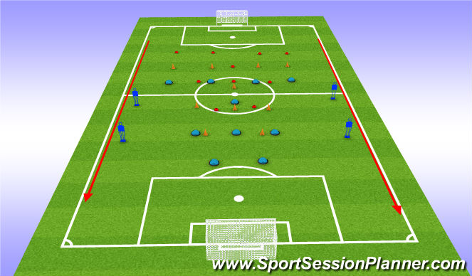 Football/Soccer Session Plan Drill (Colour): Cones Shape Work