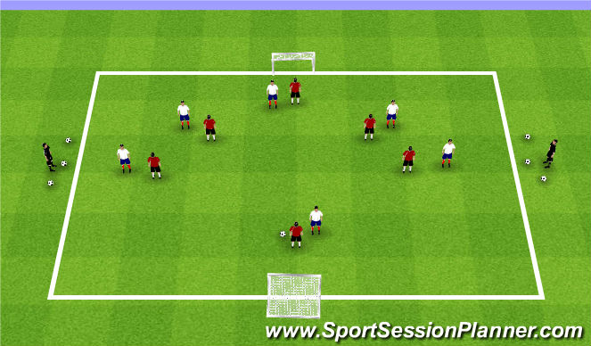 Football/Soccer Session Plan Drill (Colour): Summer ODP Week 8 3rd session