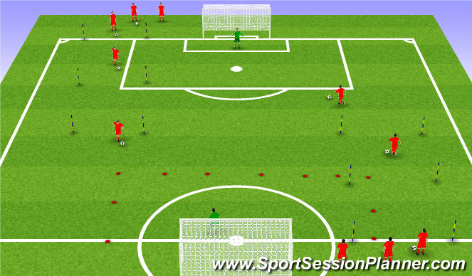 Football/Soccer Session Plan Drill (Colour): RWTB Anaerobic endurance
