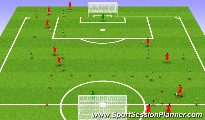 Football/Soccer Session Plan Drill (Colour): RWTB - Anaerobic endurance - progression