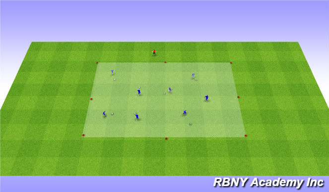 Football/Soccer Session Plan Drill (Colour): Intro - V turn