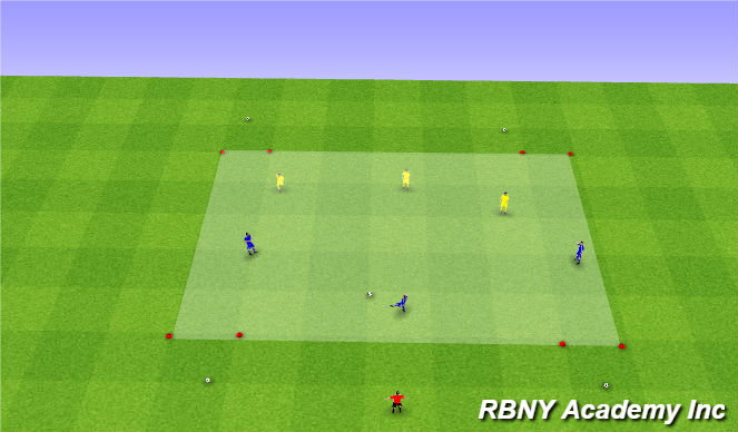 Football/Soccer Session Plan Drill (Colour): Condition - Gate goals