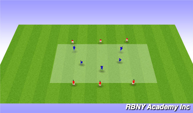 Football/Soccer Session Plan Drill (Colour): heading intro