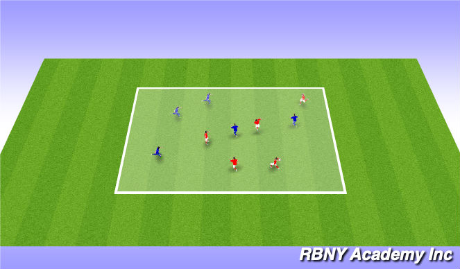 Football/Soccer Session Plan Drill (Colour): handball w/ headers
