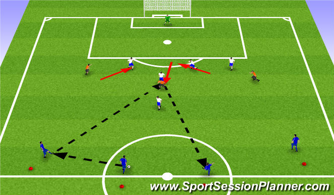 Football/Soccer Session Plan Drill (Colour): Leikfræðiæfingar2