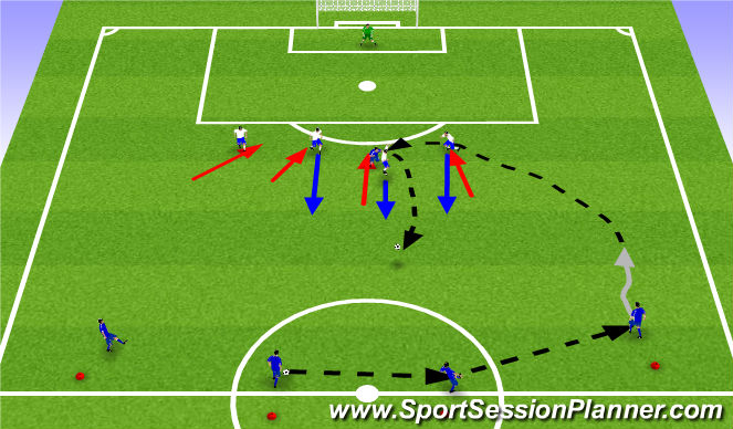 Football/Soccer Session Plan Drill (Colour): Leikfræðiæfingar3